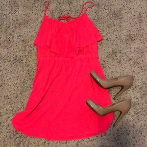AE Pink Strappy Dress - Medium